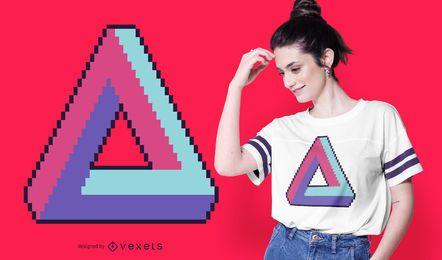 Diseño de camiseta retro triángulo infinito