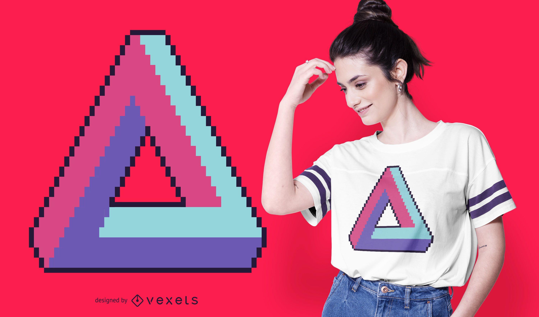 Infinite triangle retro t-shirt design