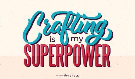 Elaboración de diseño de letras superpotencia