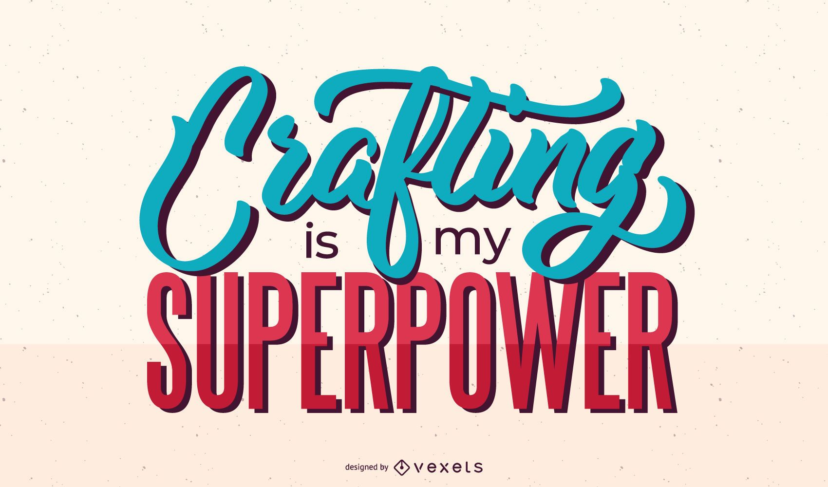 Crafting superpower lettering design