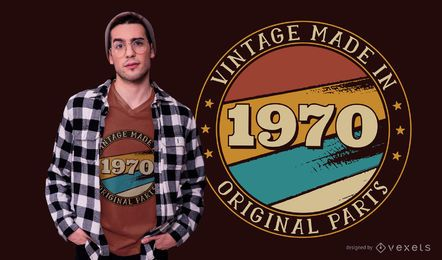 Diseño de camiseta editable de cumpleaños vintage