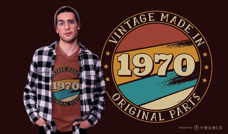 Design de t-shirt editável de aniversário vintage