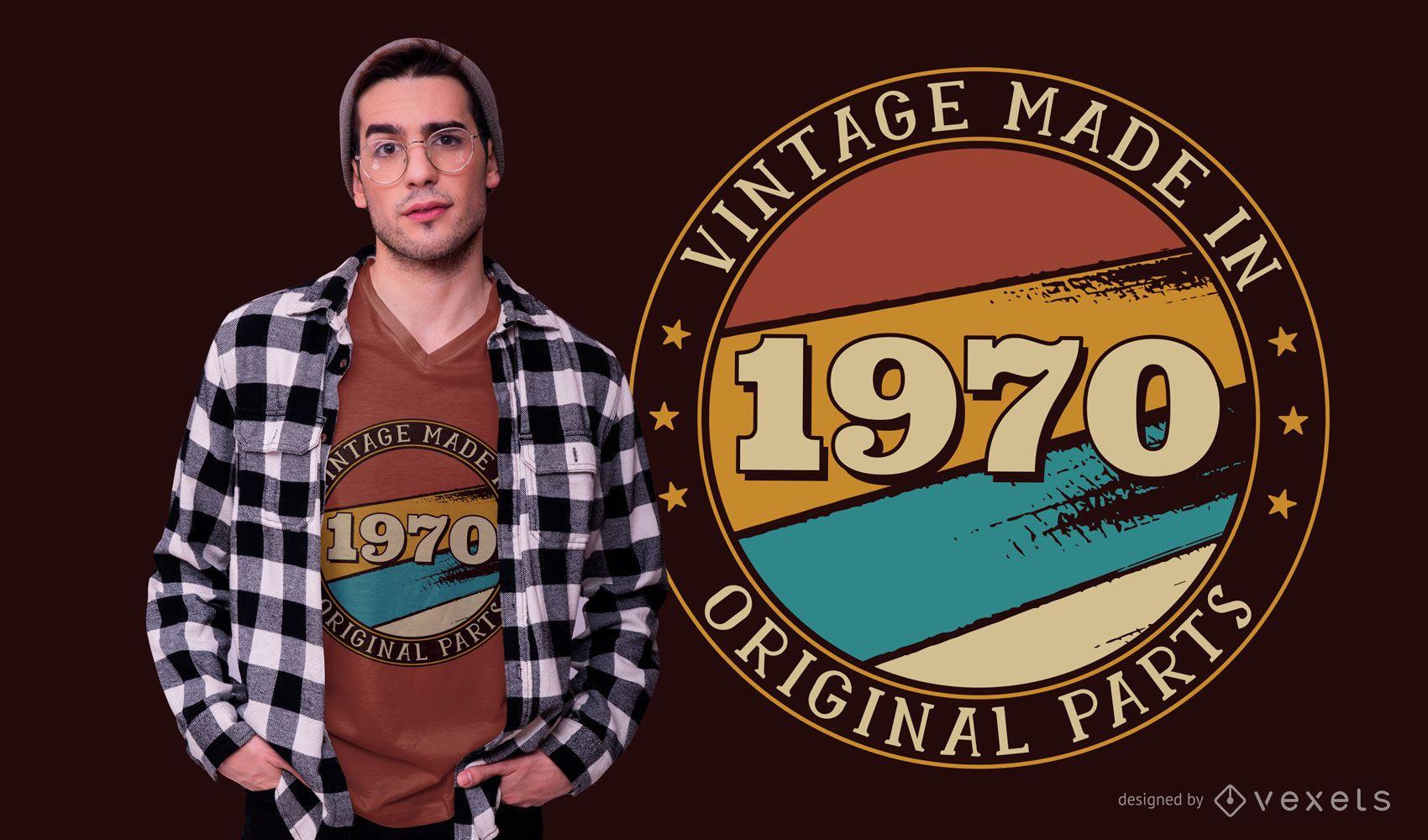 Vintage birthday editable t-shirt design