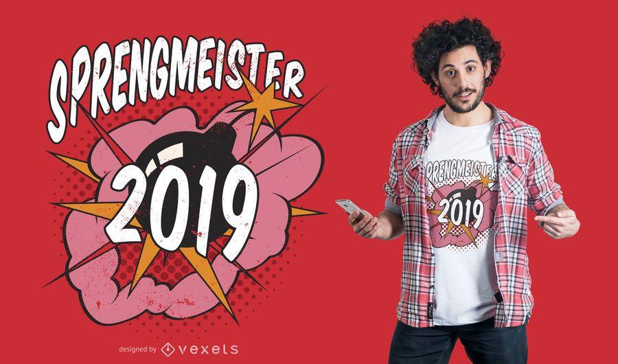 Sprengmeister t-shirt design