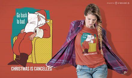Natal é cancelado design de t-shirt