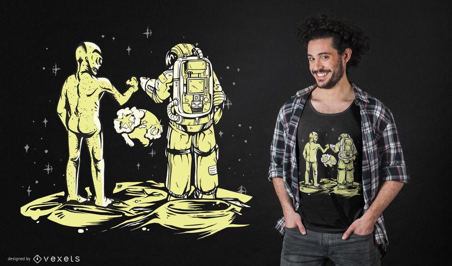 Bump fist alien t-shirt design
