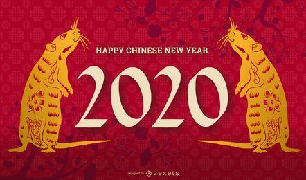 Bearbeitbares Dia des Chinesischen Neujahrsfests