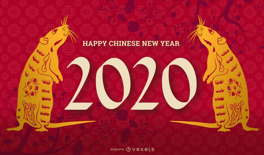 Slide editável do ano novo chinês