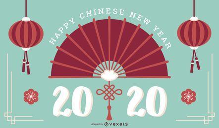 Chinesisches Neujahr 2020 Folie