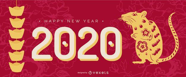 Controle deslizante de recorte de papel do ano novo chinês