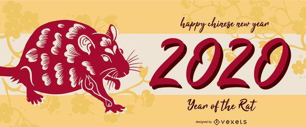 Rato deslizante do ano novo chinês