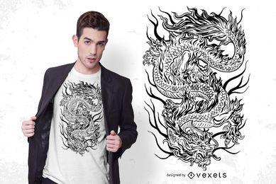 Mythical dragon t-shirt design
