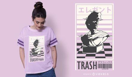 Design de camiseta de lixo de vapor