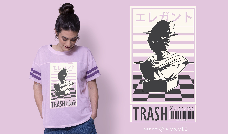 Vapor trash t-shirt design