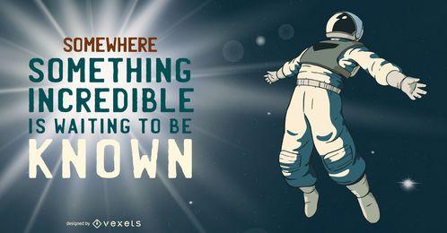 Ilustração incrível do astronauta
