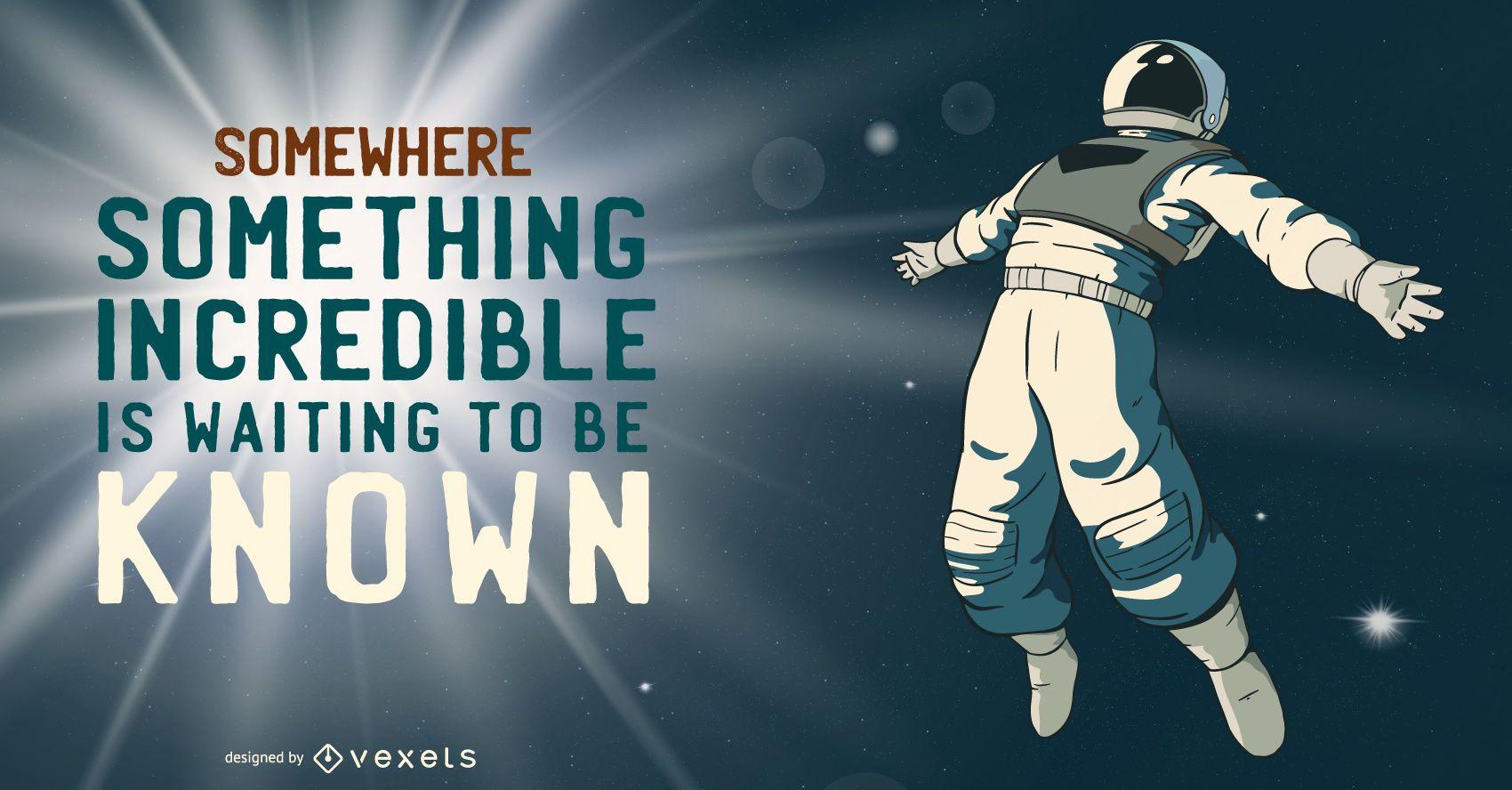 Astronaut incredible illustration