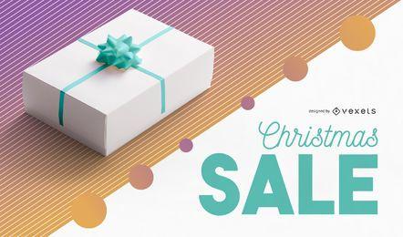 Diseño editable de banner de foto de Navidad