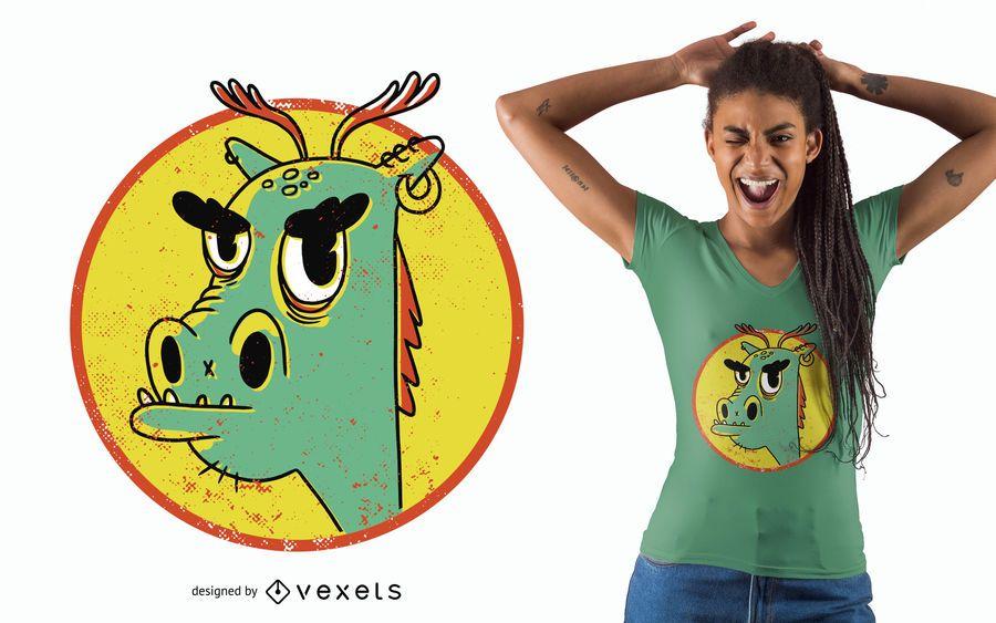 Cool dragon t-shirt design
