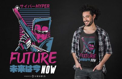 Futuro agora design de t-shirt