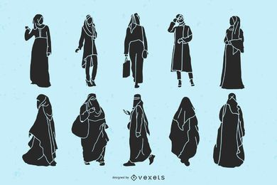 Islamic Women Silhouette Pack