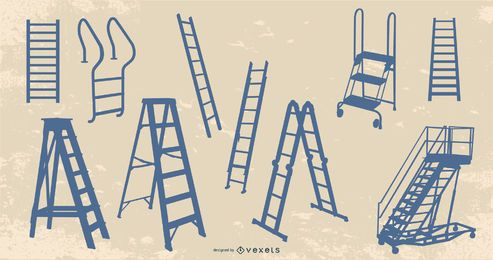 Ladder Silhouette Design Pack