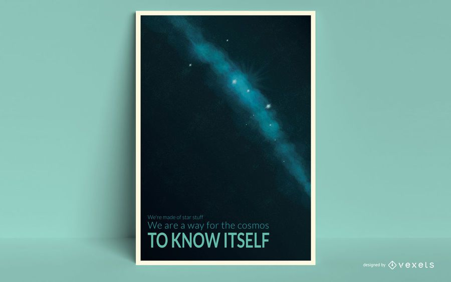 Plantilla de póster espacial