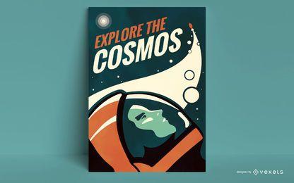 Explore la plantilla del póster del cosmos
