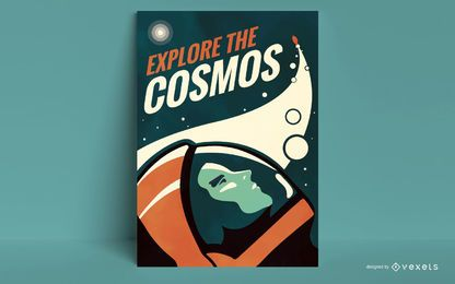 Explore the cosmos poster template