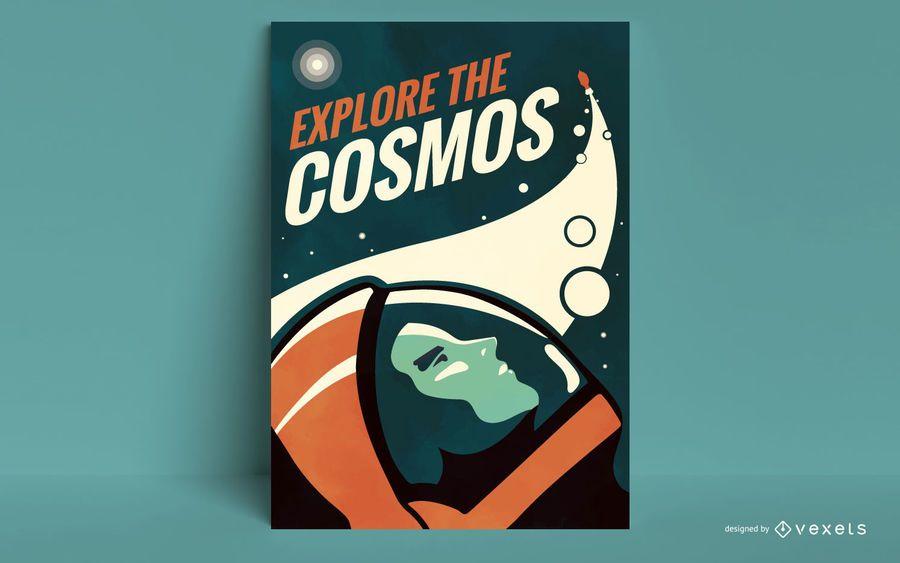 Explore o modelo de cartaz do cosmos
