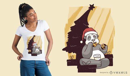 Panda Weihnachten T-Shirt Design