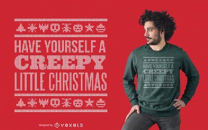 Diseño de camiseta suéter feo espeluznante