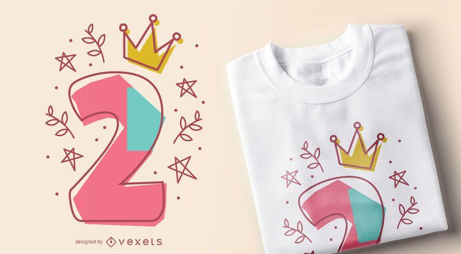 Birthday number editable t-shirt design