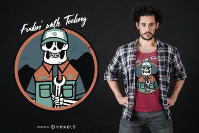 Foolin com design de camiseta com ferramentas