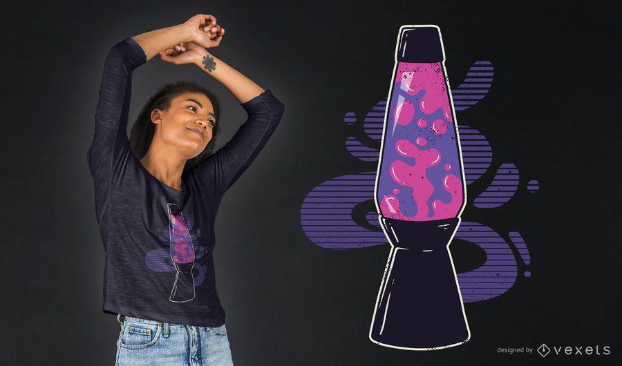 Diseño de camiseta de lámpara de lava