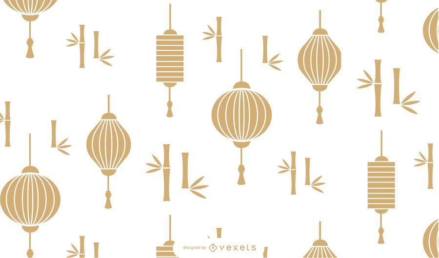 Diseño de patrón de linterna de año nuevo chino