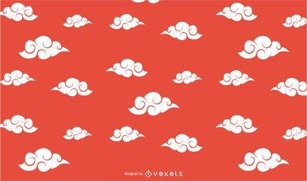 Design de padrão de nuvens chinesas