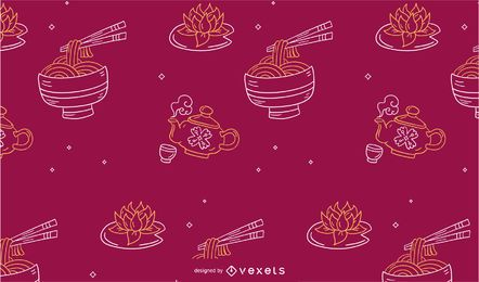 Chinese new year food pattern design