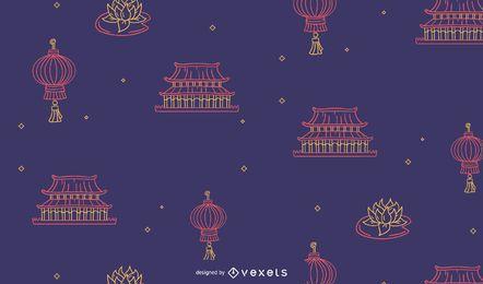 Design de padrão de ano novo chinês