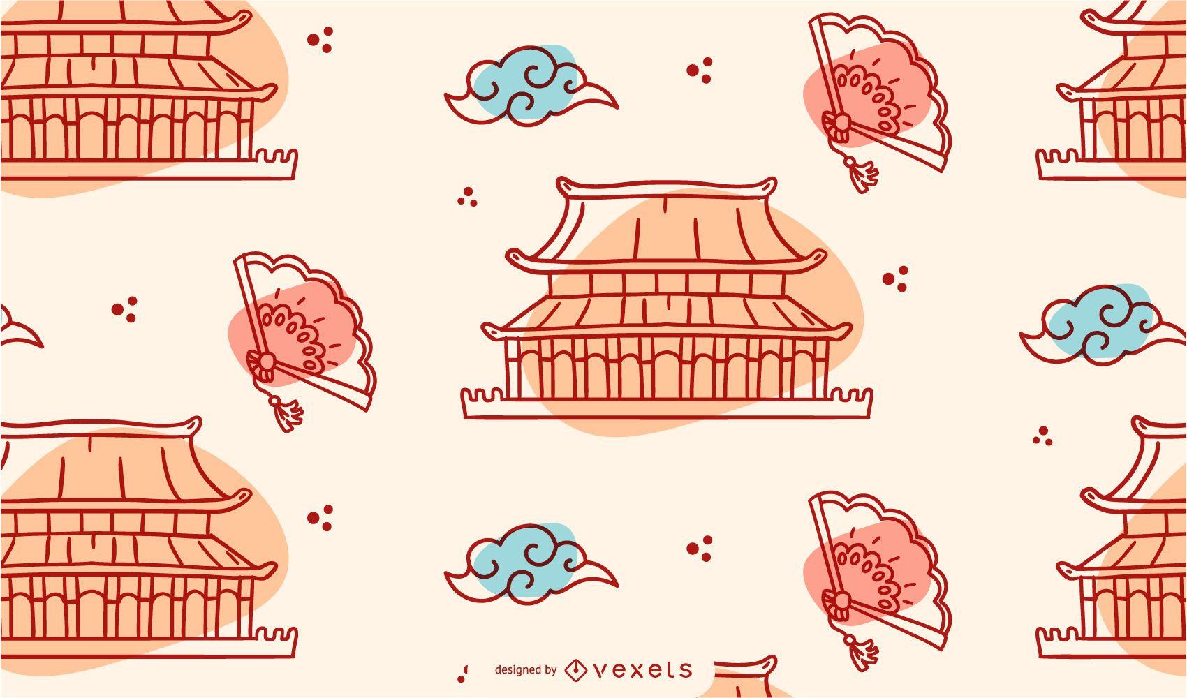 Diseño de patrón de año nuevo chino