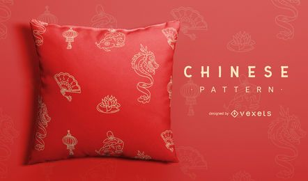 Chinese new year dragon pattern design