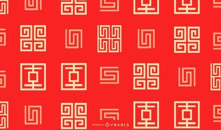 Chinesisches geometrisches Musterdesign des neuen Jahres