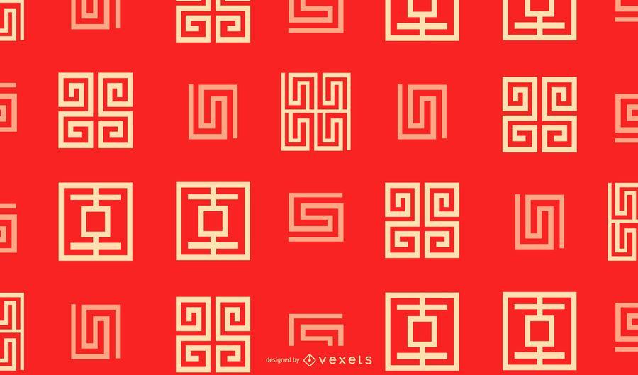 Ano novo chinês padrão geométrico design