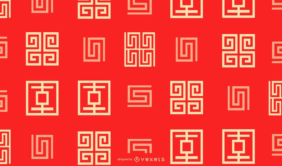 Chinese new year geometric pattern design