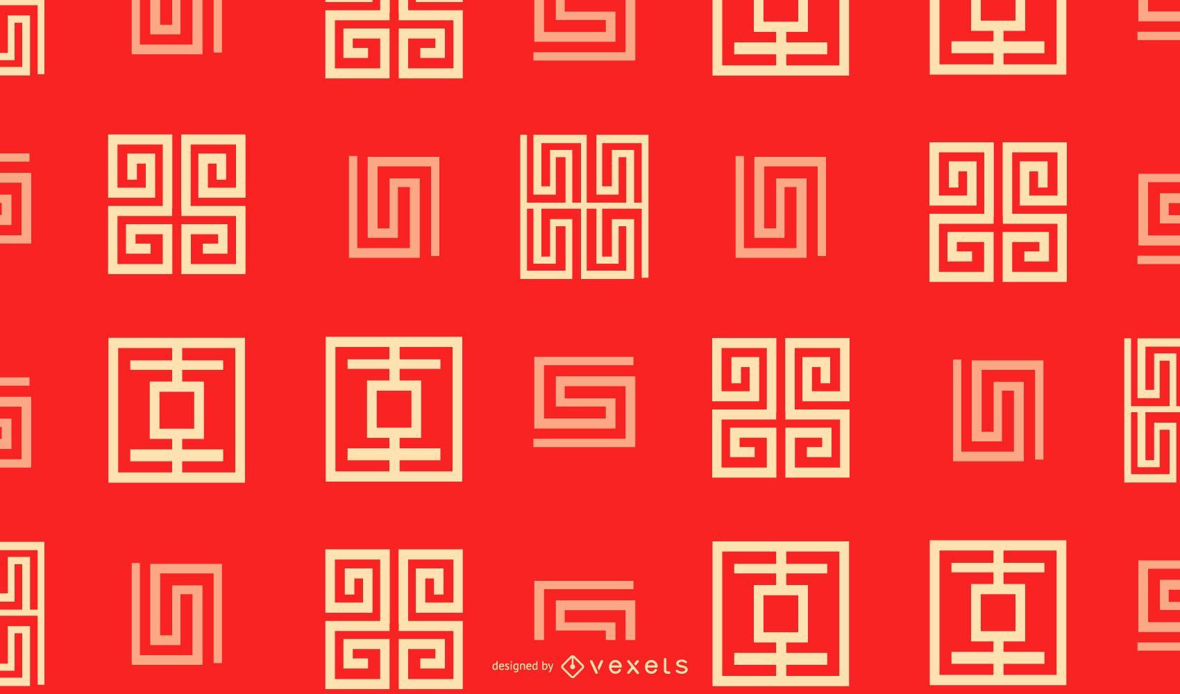 Chinese new year geometric pattern design