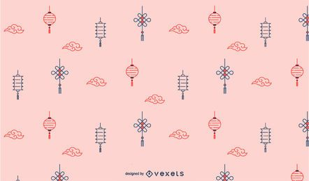 Chinese lanterns pattern design