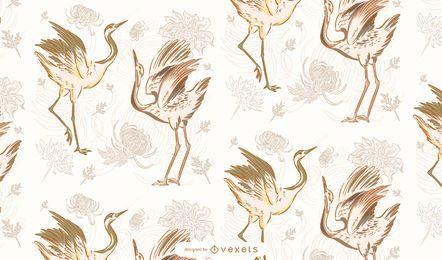 Diseño de patrón de linternas chinas