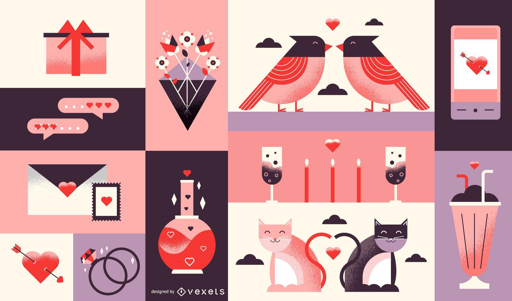 Valentine's day composition design