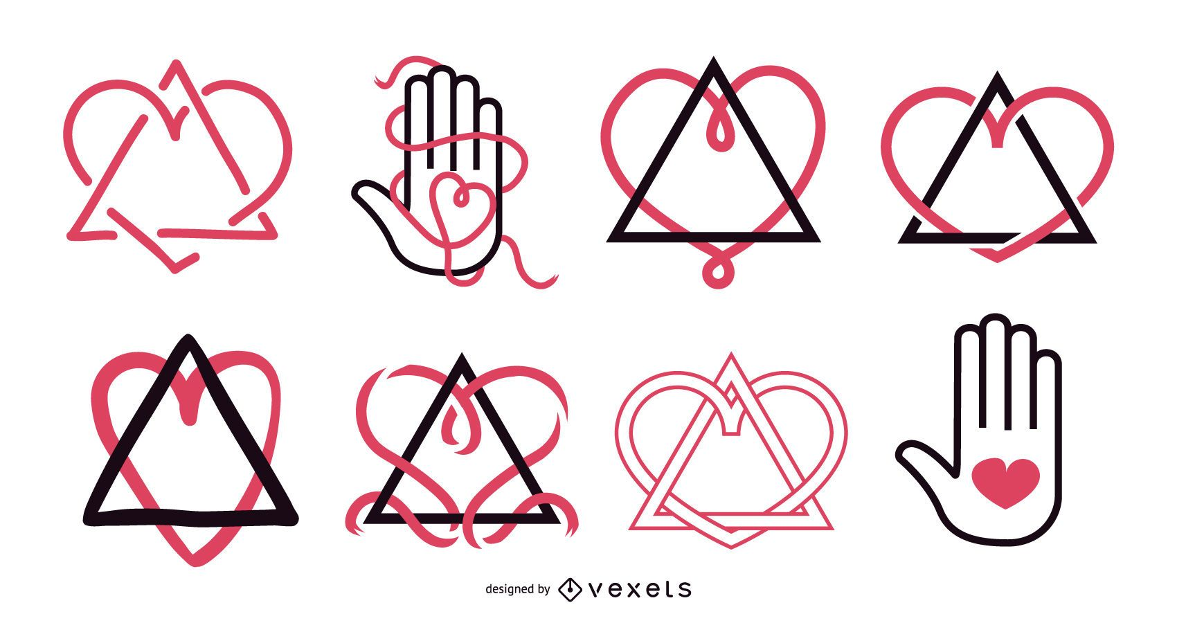 Conjunto de diseño de símbolo de adopción