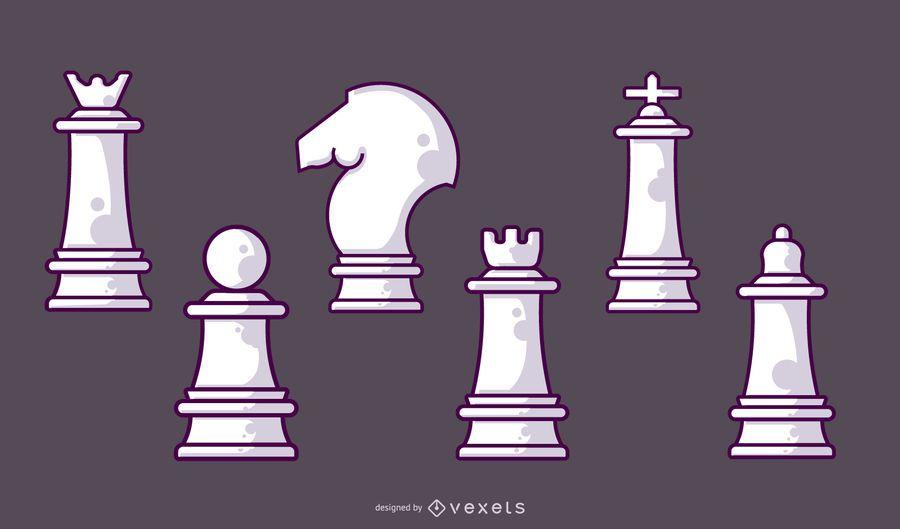 Chess White Pieces Set
