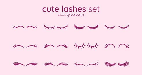 Cute Eyelashes Design Set